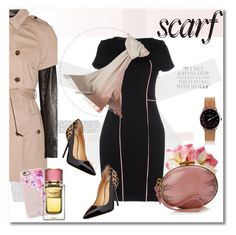"""""""Get the look"""" by vkmd ❤ liked on Polyvore featuring John-Richard, Pinko, W118 by Walter Baker, Dsquared2, MeisterSinger, Johnstons of Elgin, Nina Ricci, Casetify and scarf"""