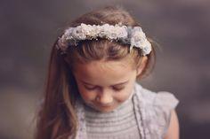 Grey Floral Headpiece. Girls Wedding Headpiece. by verityisabelle