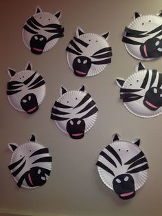 paper plate craft zebra animal week zoo animals classroom fun