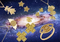 Hollywood Walk Of Fame, Flag, Stars, Yellow Gold Rings, Rocks, Pendant, Jewerly, Sterne, Science