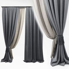 Curtains interior architectural blinds curtains, available in MAX, OBJ, MTL, ready for animation and other projects Home Curtains, Modern Curtains, Curtains With Blinds, Window Curtains, Decorative Curtains, Window Coverings, Window Treatments, Home Interior Design, Interior Decorating