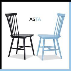 Asta Blue & Black Chair