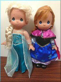 """Elsa and Anna """"Frozen"""" Precious Moments Dolls!"""