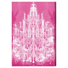 add a pop of color to your entryway or living room with this eye catching background pink chandelier