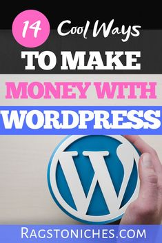 Wondering how to make money online, with a Wordpress blog?  This post shows you 14 different legit ways you can make money from home, with Wordpress!  #wordpress  #makemoneyonline #makemoneyfromhome Make Money Fast Online, Online Cash, Make Money Blogging, Way To Make Money, How To Make, Cash From Home, Make Money From Home, Best Business Ideas, Business Tips