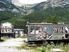 Estacion Canfranc, Spain - Once one of the largest train stations in Europe; built in 1928 but closed down in the 70's when an accident destroyed a nearby bridge and cut off access.