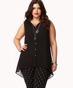 Cowl Back Georgette Top Forever 21+ with crosses leggings