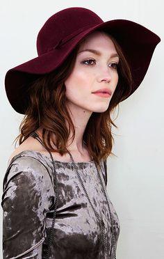 Felt Hat from @Planet Blue  #PLANETBLUEFALL
