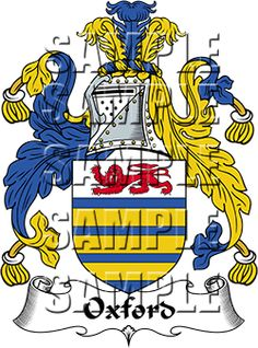 Oxford Family Crest apparel, Oxford Coat of Arms gifts