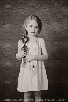modern children's photography with vintage twist. Cute indoor studio photography. Window light children's photography. Cute hair for little girls.