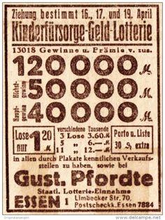 Original-Werbung/ Anzeige 1926 - KINDERFÜRSORGE GELD-LOTTERIE / PFORDTE - ESSEN…