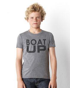 Boat Up kids heather tshirt  #boating #boatup #goboating #kcco #lakelife #wakeboarding #boatlife #onlineshirts #tees #tshirts #boating
