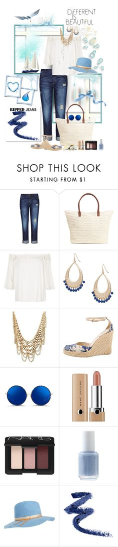"""summer 2"" by ntina36 ❤ liked on Polyvore featuring City Chic, H&M, River Island, Ralph Lauren, Charlotte Russe, Gucci, Matthew Williamson, Marc Jacobs, NARS Cosmetics and Essie"