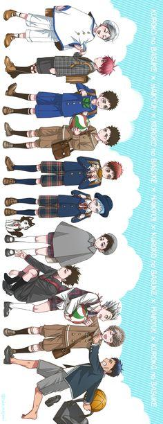 kuroko no basket x haikyuu crossover elementary (sideways)