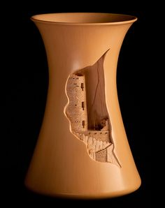 Hourglass by Al Qoyawayma. - Talk about a Renaissance man. Al Qoyawayma is a ceramic artist, potter, and bronze sculptor. He's also a thinker of great thoughts, a Fulbright Scholar, a co-founder of the American Indian Science and Engineering Society, a featured artist at the Smithsonian's permanent Archives of American Art as well as a physicist, astronomer, anthropologist, engineer, and educator.  Constantly setting new goals and quickly achieving them, this septuagenerian Hopi dynamo…