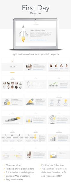 First Day Keynote Template #design #slides Download: http://graphicriver.net/item/first-day-keynote-tempale/13563766?ref=ksioks