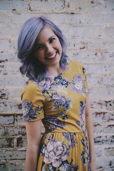 Lavender hair don't care