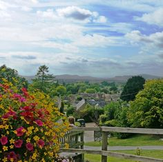 Cotswold Way: the view from the Mount pub, Stanton