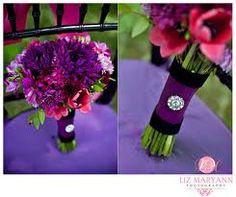 Pretty fuschia and purple bouquet