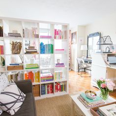 Save these small space home hacks to learn how to make the most of your tiny studio apartment.