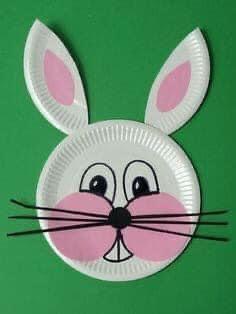 #نشاط اعادة تدوير من اطباق الفل اصنعي لابنك اشكال فنية جميله 🐹🐶🐰🦊🐼🦁🐵 محببة للاطفال 😍 | مدونة جنى للأطفال Easter Arts And Crafts, Paper Plate Crafts For Kids, Spring Crafts For Kids, Bunny Crafts, Art For Kids, Paper Crafts, Fabric Crafts, Toddler Crafts, Preschool Crafts