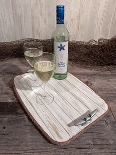Wood Serving Tray  Galvanized Boat Cleat  by HarborsideCollection -  - New Weathered White products in the Harborside Collection shop at www.etsy.com/shop/HarborsideCollection - Some itmes in stock ready to ship - Just Ask!
