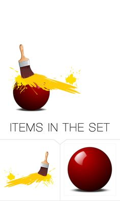 """Paint Ball!"" by beet-1 ❤ liked on Polyvore featuring art"
