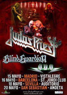 Concierto de Judas Priests + Blind Guardian + U.D.O. en Barcelona  Sant Jordi Club (anexo Al Palau Sant Jordi), Barcelona  16 mayo 2012 a las 20:00h.