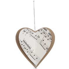 Vintage decorations - Hearts music...tells you how much you are Loved from the Heart.