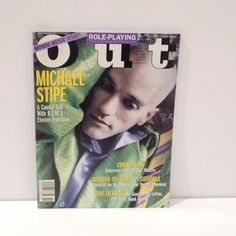 Michael Stipe of REM -- A Candid Talk with REMs Frontman -- Vintage Out Magazine Mondo Music Issue   The November 1995 magazine is in very good vintage condition --- normal surface wear from the magazine being looked through once or twice. 168 pages. One owner.  Includes Michael Stipe interview plus Role Playing: Falls TV Characters, Curing Gays, Sullivan Vs Vaid, Signorile, Out Talks to: Boy George, Patti LuPone, PM Dawn, Skink Anansie  Measurements: 10 7/8 by 8 1/8 inches, 168 pages…