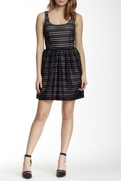 Laser Cut Fit & Flare Scuba Dress by Love...Ady on @nordstrom_rack #madeinusa