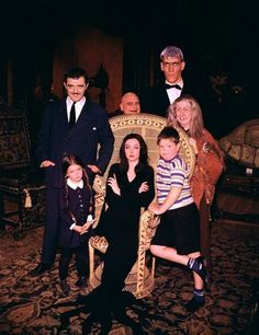 THE ADDAMS FAMILY - The original TV Addams Family, in color.