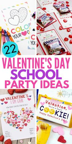 These Valentine's Day Party Ideas for kids will help you through the best Valentine's Day Classroom Party your kids have ever had! From Valentine's Da Valentine Crafts For Kids, Valentines For Boys, Valentines Day Party, Fun Crafts For Kids, Valentine Gifts, Gifts For Kids, Valentine Ideas, School Parties, School Gifts
