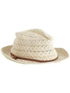 Jessica Simpson Crochet Fedora   Piperlime