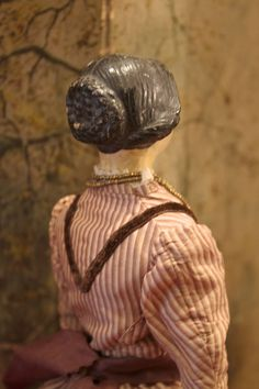Early Paper Mache Lady Doll
