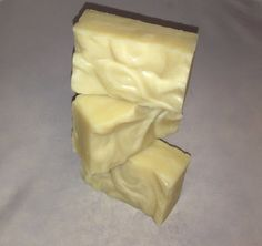 Unscented Handmade Soap All of our soap starts with a base of Olive oil, Coconut Oil, Shea Butter and Cocoa Butter  That is all this soap contains! No fragrance no colorants!