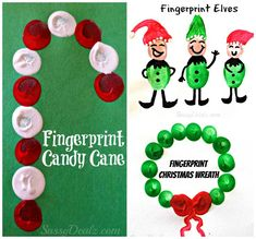 Find lots of Christmas fingerprint crafts and art projects for kids at this website! Fun and cheap winter crafts! #Christmas crafts for kids | CraftyMorning.com