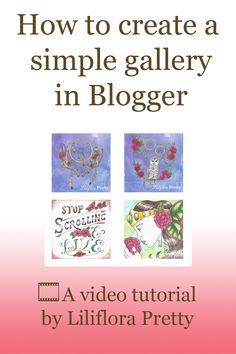 A simple tutorial showing how to create an image gallery or portfolio on a Blogger blog post or page.