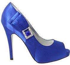 Zapatos azules para novia o damas!