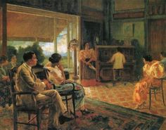 Kundiman painting by Fabian dela Rosa