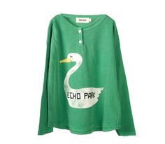 Bobo Choses Long Sleeve Button T-shirt Swan | Scandinavian Minimall