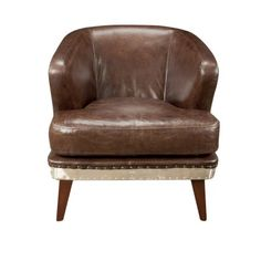Manning Leather Chair, Brown
