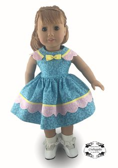 Crabapples Sunday Best Doll Clothes Pattern 18 inch American Girl Dolls | Pixie Faire