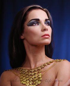 egyptian eye makeup, cleopatra makeup, dramatic eye makeup, fantasy makeup, stage makeup