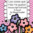 """This is a wonderful, easy-to-use reader that will help your students read and learn the sight word """"las"""".   What will you find? """"Las cosas que más ..."""