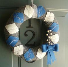 love this apdi door wreath! diamond sister craft, yes?
