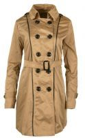 NEW WOMENS DOUBLE BREASTED BELTED LONG TRENCH LAPEL OUTERWEAR COAT JACKET