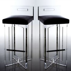 Halston- Bar Stool - Shop - Bradford W. Collier and BWC Studio, Inc - Interior Designer in Houston, Texas Lucite Furniture, Acrylic Furniture, Bar Furniture, Design Furniture, Luxury Furniture, Modern Furniture, Acrylic Chair, Futuristic Furniture, Plywood Furniture