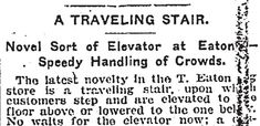 The history of the first escalator in Toronto