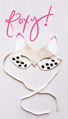 Lovely Finds: Foxy! // halloween mask // inspiration // DIY
